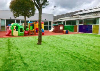 Exterior da Escola Infantil A Barosa.