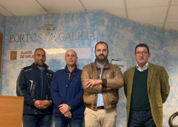 Fernández, xunto a Santiago Salgado, Ramiro Piñeiro e Javier García.