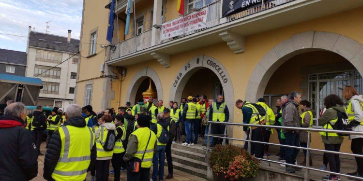 Mobilización dos traballadores e veciños de As Pontes.