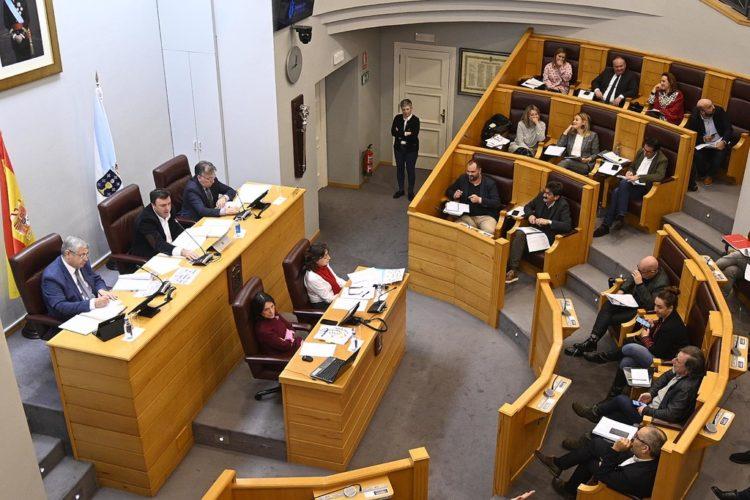 Pleno da Deputación de A Coruña.