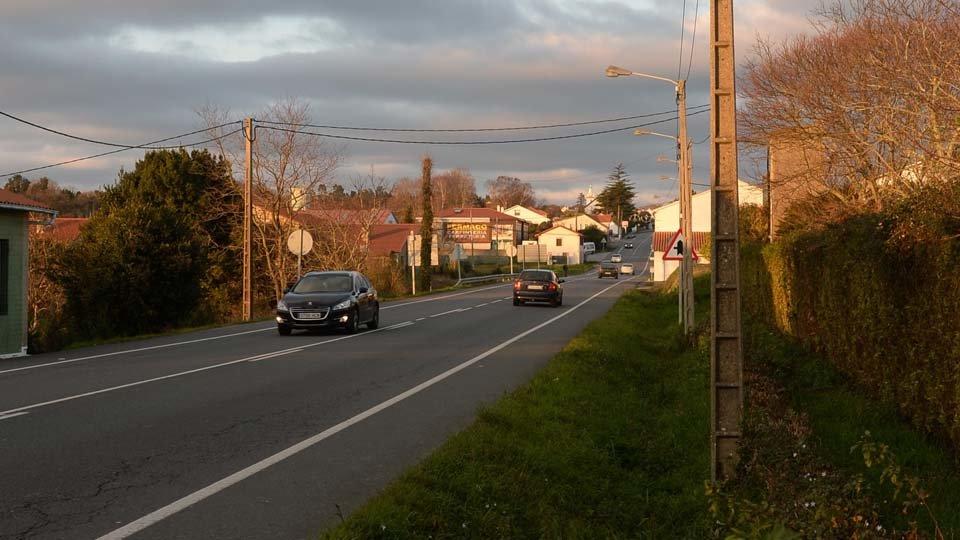 Iluminación carretera de Castro