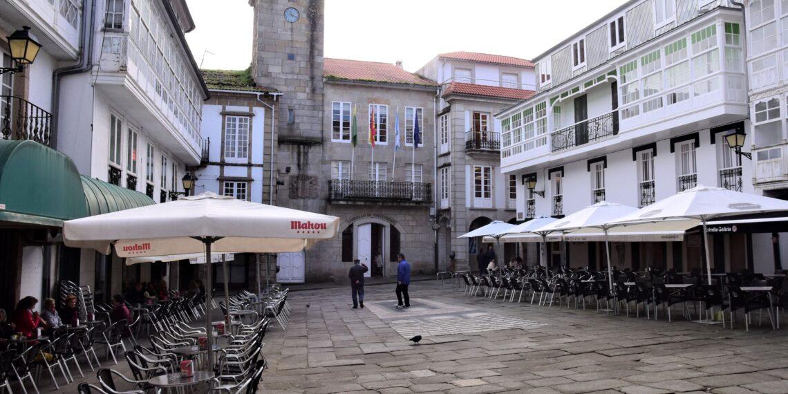 Imaxe de arquivo da praza Real de Pontedeume