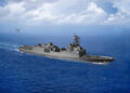 200430-N-NO101-150 WASHINGTON (April 30, 2020) An artist rendering of the guided-missile frigate FFG(X). The new small surface combatant will have multi-mission capability to conduct air warfare, anti-submarine warfare, surface warfare, electronic warfare, and information operations. (U.S. Navy graphic/Released)