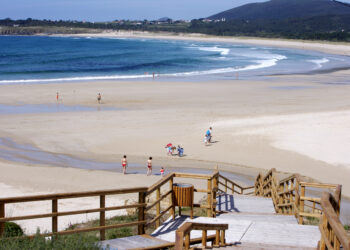 Playa de San Xurxo, en Ferrol.