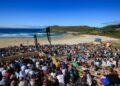 La playa de Pantín acogerá un año más el evento de la World Surf League