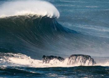 Imagen de archivo de una borrasca en zona costera