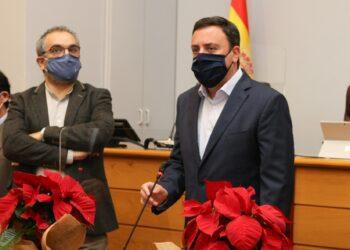 González Formoso durante el mensaje de Navidad en el pleno de la Diputación