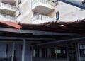 Así ha quedado el tejado de la terraza del restaurante Beceiro