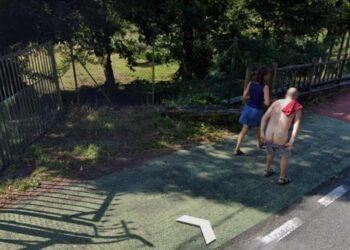 La imagen viral del vecino de As Pontes | Google Street View