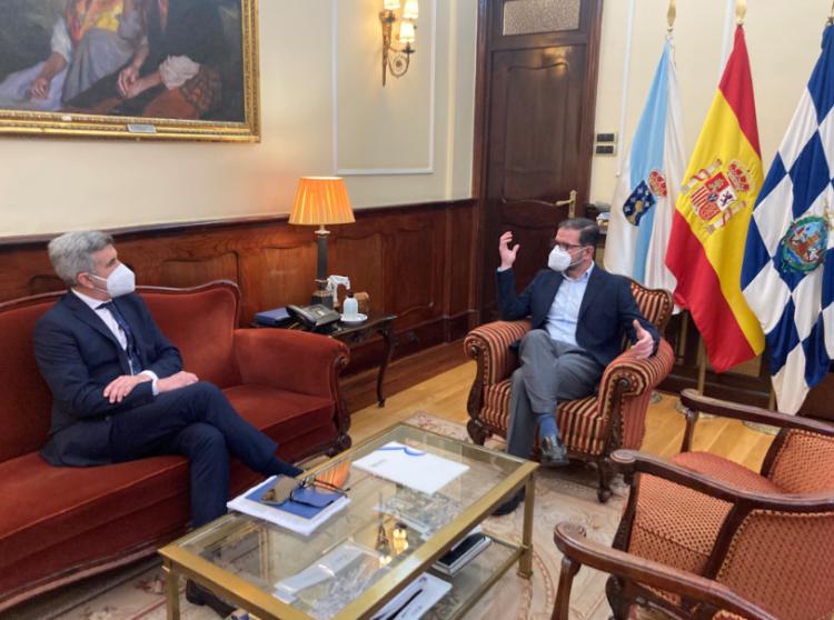 El presidente del Puerto y el alcalde de Ferrol en la reunión que mantuvieron esta mañana