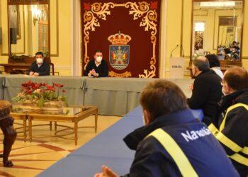 El comité de empresa se reunió esta mañana en el Concello de Ferrol con Mato y Trigo