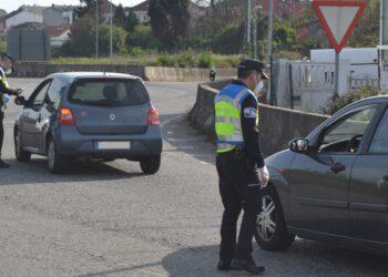 Control de la Policía Local de Ferrol durante la pandemia de covid