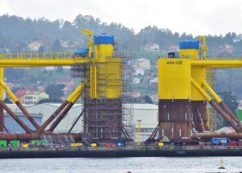 El astillero de Navantia Fene podría acoger la fabricación de monopiles para Iberdrola