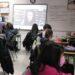 Los alumnos del CEIP Couceiro Freijomil durante uno de los talleres divulgativos