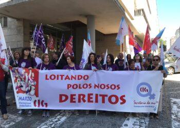 Manifestación de la CIG por el 8M en 2019