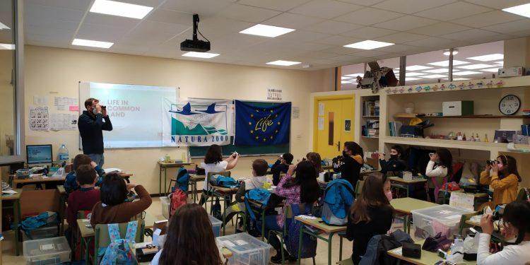 Los alumnos durante la actividad