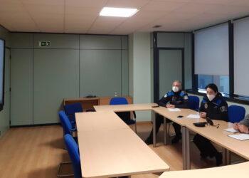 Un momento de la reunión por videoconferencia con los alumnos del Jorge Juan