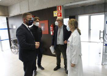 La visita al renovado centro de salud