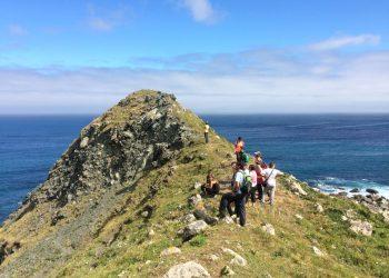 Una ruta celebrada anteriormente por los acantilados de la costa de Cedeira