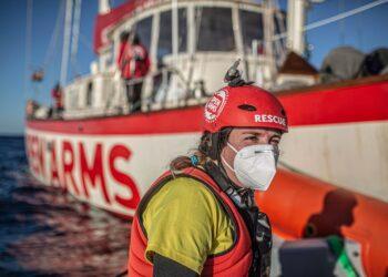 Fátima Sánchez durante uno de los rescates | CEDIDA