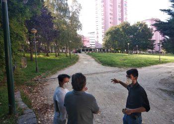 Una foto de archivo de una visita del edil al parque