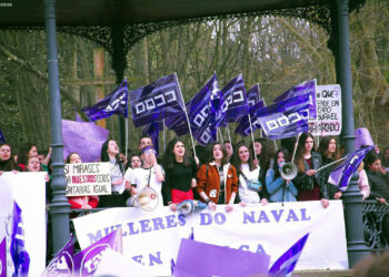 Movilización del 8M en Ferrol en 2019