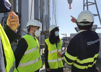 Belén Gualda visitó los astilleros de Ferrol y Fene