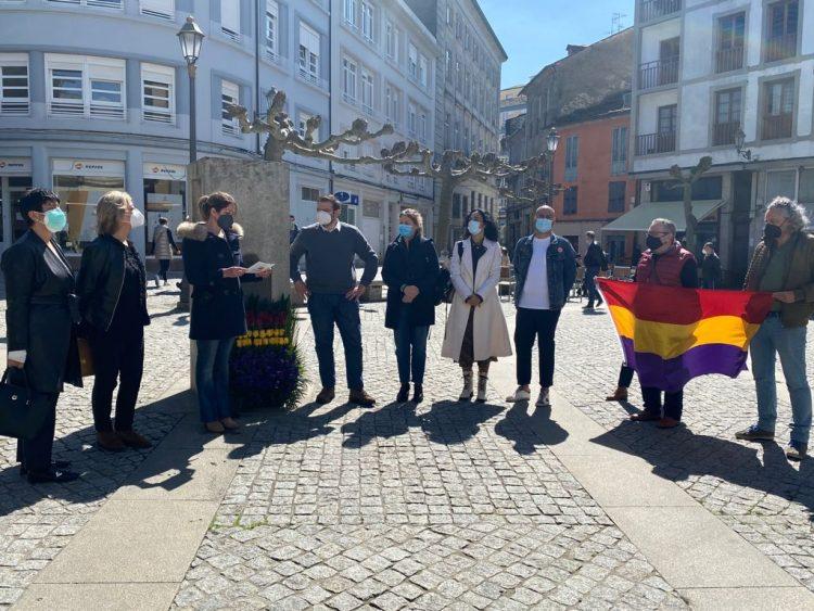 Imagen del acto de conmemoración organizado por el Concello de Lugo