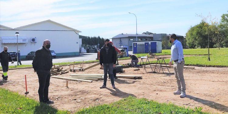 Los ediles naroneses visitaron la zona de las obras