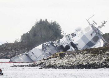Hundimiento de la fragata noruega en noviembre de 2018