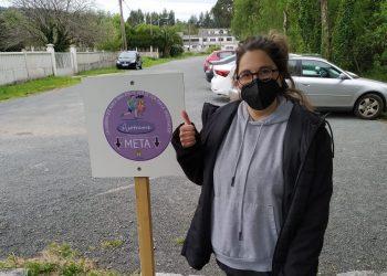 La edil Ana Belén Pérez, en la ruta solidaria