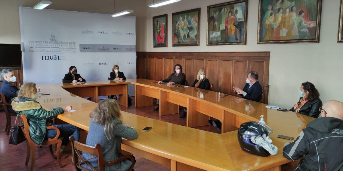 Reunión de trabajo celebrado esta mañana en el ayuntamiento de Ferrol