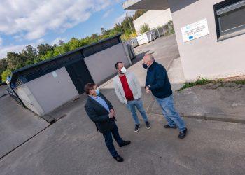Los alcaldes de los tres concellos visitaron las instalaciones en Vilar do Colo
