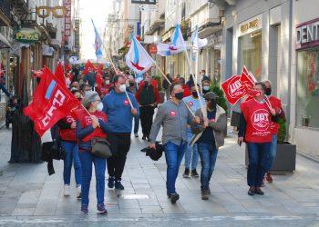 Reciente movilización de los sindicatos en Ferrol