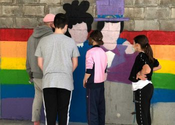 Los alumnos conocieron la biografía de las protagonistas de estos murales en las aulas para posteriormente participar en el diseño