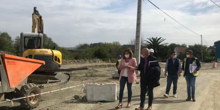 Visita a las obras de urbanización del Camiño do Lodairo