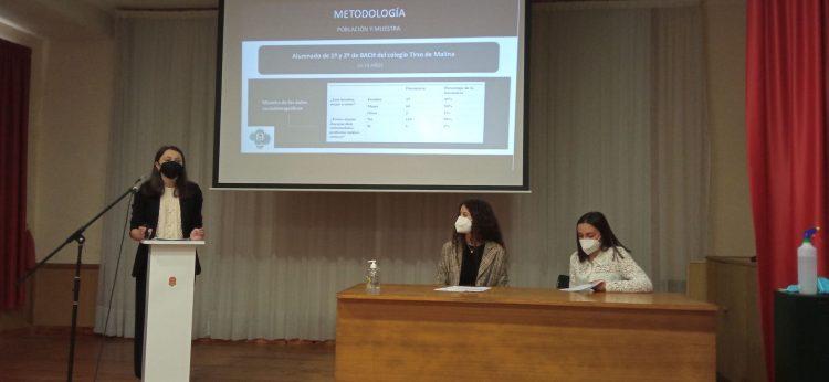 Las alumnas durante la presentación del proyecto.   CEDIDA
