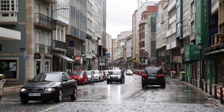 La calle San Andrés cuando está abierta al tráfico