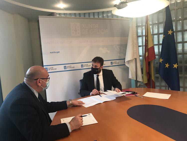 Alberto González y Gonzalo Trenor se reunieron esta mañana en Ferrol