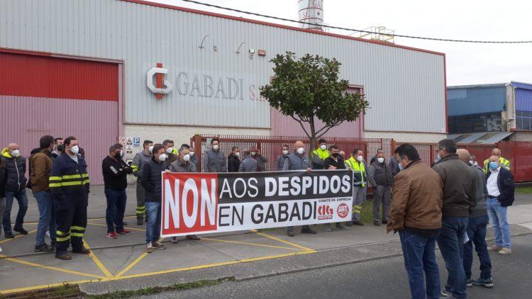 Concentración frente a la sede de Gabadi en Narón | CIG