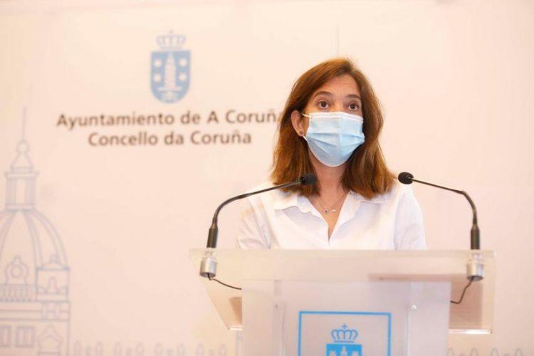 La alcaldesa de A Coruña, Inés Rey.