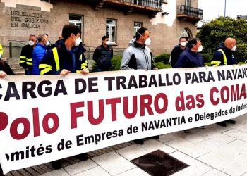 Concentración frente a la sede de la delegación del Gobierno en A Coruña