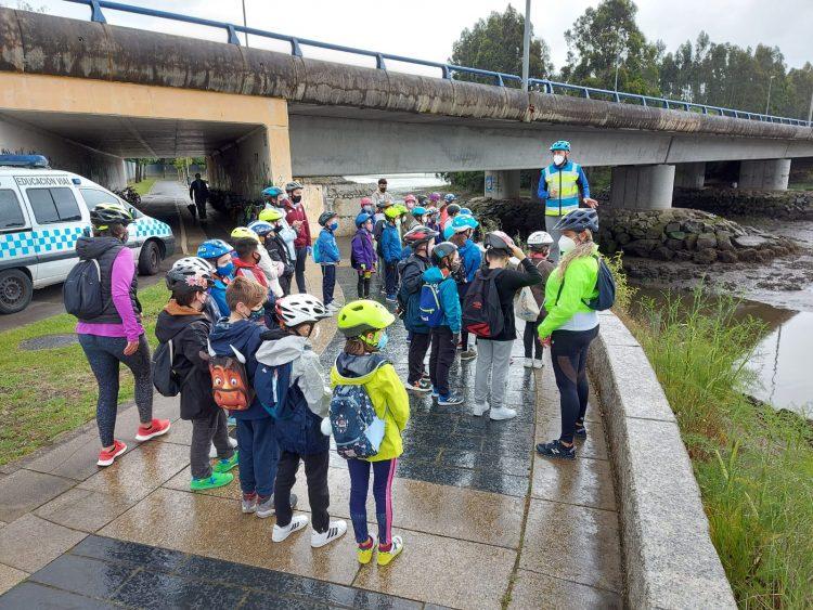 Actividad de Educación Viaria en Narón.
