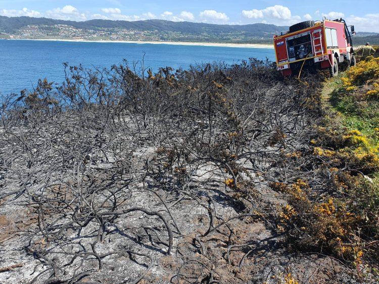 Incendio en Valdoviño.