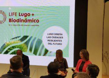 Lara Méndez en una imagen de archivo en la cumbre contra el Cambio Climático. | CONCELLO DE LUGO