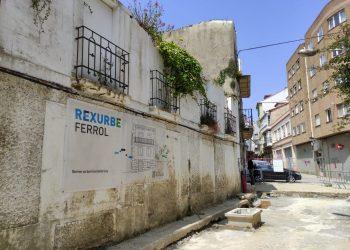Actualmente hay 18 viviendas incluidas en el plan Rexurbe del barrio de Ferrol Vello