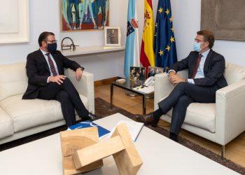 Reunión entre el alcalde de Ferrol, Ángel Mato, y el presidente de la Xunta, Alberto Núñez Feijóo, en Santiago
