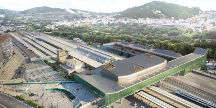 Imagen virtual del conjunto de la estación intermodal   AYUNTAMIENTO DE SANTIAGO