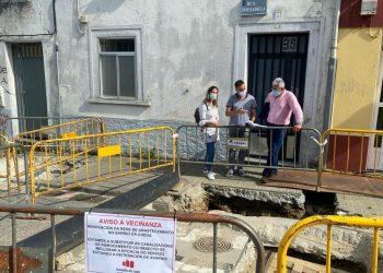 La alcaldesa, Lara Méndez, y el edil de Medio Ambiente, Miguel Fernández, supervisan las obras | CONCELLO DE LUGO