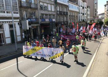 Manifestación en defensa de la universidad pública   CIG